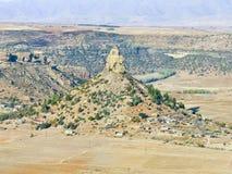 Qiloane ett berg i Lesotho bredvid Thaba Bosiu royaltyfria bilder