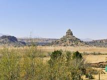 Qiloane, uma montanha em Lesoto ao lado de Thaba Bosiu foto de stock royalty free