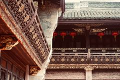 Qin ancestral hall royalty free stock photography