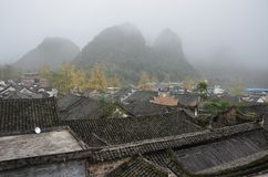 The Qin clan ancient village in Guangxi province in China. Stock Image