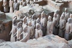 Qin dynastii Terakotowy wojsko, Xian, Chiny (Sian) Zdjęcie Stock