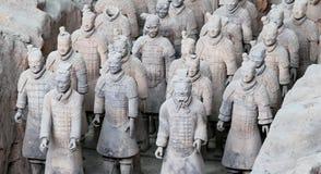 Qin dynastii Terakotowy wojsko, Xian, Chiny (Sian) Zdjęcia Stock