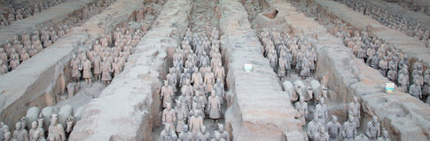 Qin dynasty Terracotta Army, Xian (Sian), China Royalty Free Stock Photos