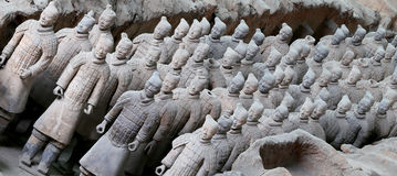 Qin dynasty Terracotta Army, Xian (Sian), China Royalty Free Stock Image