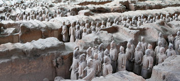 Qin dynasty Terracotta Army, Xian (Sian), China Royalty Free Stock Photo