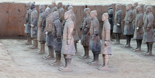 Qin dynasty Terracotta Army, Xian (Sian), China Royalty Free Stock Images