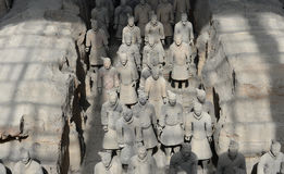 Qin Terracotta Warriors and Horses Royalty Free Stock Photography
