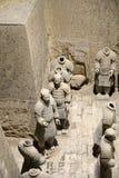 Qin Terracotta Warriors och hästar Royaltyfria Bilder