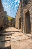 Qinbi Village Stone Alley Stock Image