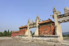 Qing dongling, longfeng door Royalty Free Stock Image