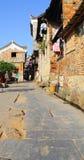 Qing dynastia w Ming dynastii okresie Porcelanowi Antyczni budynki wioska Zdjęcie Stock