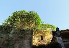 Qing dynastia w Ming dynastii okresie Porcelanowi Antyczni budynki wioska Fotografia Royalty Free