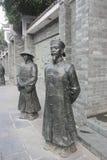 Qing dynastii oficera brązu statuy obraz royalty free