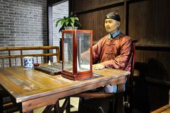 Qing Dynasty wharfmaster  in China History Wax Museum. Qing Dynasty Historical wax museum in Guangzhou city Guangdong Province China Asia  In Qing Dynasty stock photography