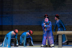 "The Qing Dynasty kneel-Shanxi Operatic""Fu Shan to Beijing"" Royalty Free Stock Photo"