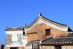 The Qing Dynasty in the Ming Dynasty period of China Ancient buildings of the village Royalty Free Stock Images