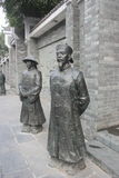 The Qing Dynasty officer bronze statues Royalty Free Stock Image