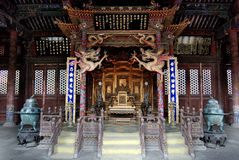 Qing Dynasty palace(chongzheng palace Inside) Royalty Free Stock Photos