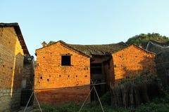 Qing Dynasty pendant la période de Ming Dynasty des bâtiments antiques de la Chine du village Photo stock
