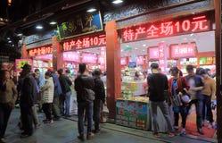 Qing He Fang historisk gata Hangzhou Kina Royaltyfria Foton