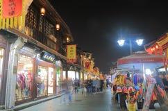 Qing He Fang historisk gata Hangzhou Kina Arkivfoton