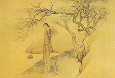 Qing Fei Danxu Twelve Beauties painting Stock Photography