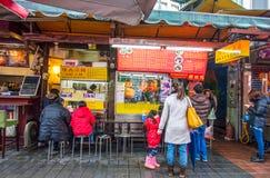 Qing Guang marknad, som lokaliseras i det Zhongshan området, Taipei Taiwan Royaltyfria Bilder