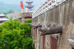 Qing Palace. Shots of reconstructed historic buildings in China Royalty Free Stock Images
