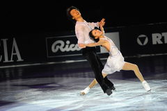 Qing Pang and Jian Ton ice skater at 2010 Ice Gala Stock Images