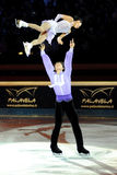Qing Pang and Jian Tong at 2011 Golden Skate Award Royalty Free Stock Photo
