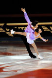 Qing Pang and Jian Tong at 2011 Golden Skate Award Stock Image