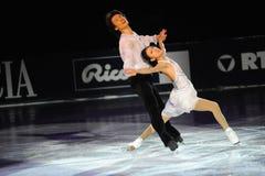 Qing Schmerzgefühl und Jian Tonneneis-Schlittschuhläufer bei Gala des Eis-2010 Stockbilder