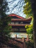 Qing Yang Gong Temple Green Goat slott i Chengdu, Kina royaltyfria bilder
