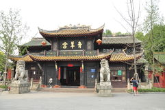 Qing Yang Gong Temple,Taoism Green Goat Palace in chengdu china Royalty Free Stock Photos