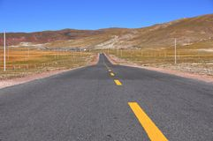 Qing-Zang Highway. Start from Xi-Ning city in QingHai, end in Lhasa in Tibet, China Royalty Free Stock Photography