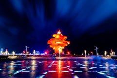 Qingdao, Китай, 06-08-2016 Квадрат &#x28 4-ое мая; Wu Si Guangchang) Стоковые Фото