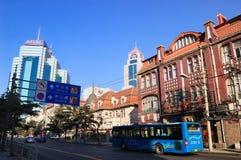 город qingdao фарфора стоковая фотография rf