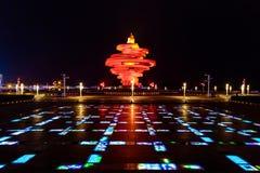 Qingdao, China, 22-09-2015 4 de mayo cuadrado ( Wu Si Guangchang) Imagen de archivo libre de regalías