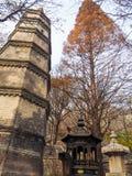 Qingdao Chiny, Grudzień, - 2017: wielkiej stupy i kadzidłowego palnika b fotografia royalty free