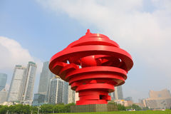 QINGDAO, CHINY - rzeźba May Fourth targowy kwadrat Qingdao 2014 w Qingdao, Chiny Zdjęcie Royalty Free