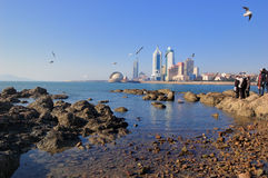 Qingdao city. Qingdao is a famous tourist city, Qingdao is an important military port, now the seat of the PLA Headquarters of the North Sea Fleet stock photos