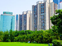 Qingdao city apartments buildings royalty free stock images