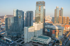 Qingdao city building scenery Royalty Free Stock Photo