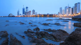 Qingdao city. Qingdao is a famous tourist city, Qingdao is an important military port, now the seat of the PLA Headquarters of the North Sea Fleet royalty free stock image