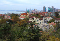 Qingdao city. Qingdao is a famous tourist city, Qingdao is an important military port, now the seat of the PLA Headquarters of the North Sea Fleet stock image