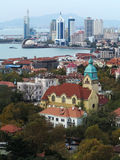 Qingdao city. Qingdao is a famous tourist city, Qingdao is an important military port, now the seat of the PLA Headquarters of the North Sea Fleet royalty free stock photos