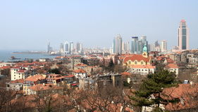 Qingdao city panorama Royalty Free Stock Photography