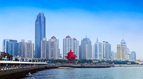 Qingdao City, Shandong Province Gulf cityscapes Royalty Free Stock Image