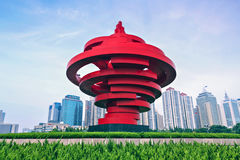 Qingdao City, Shandong Province, May Fourth Square Stock Photography