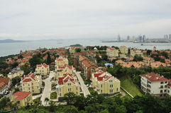 Qingdao city skyline Royalty Free Stock Photos